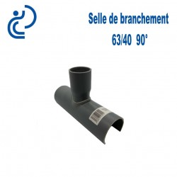 Selle de Branchement 63x40 à 90° PVC à coller