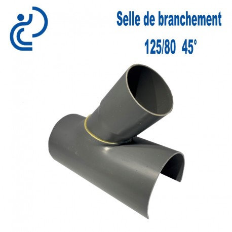 Selle de Branchement 125x80 à 45° PVC à coller