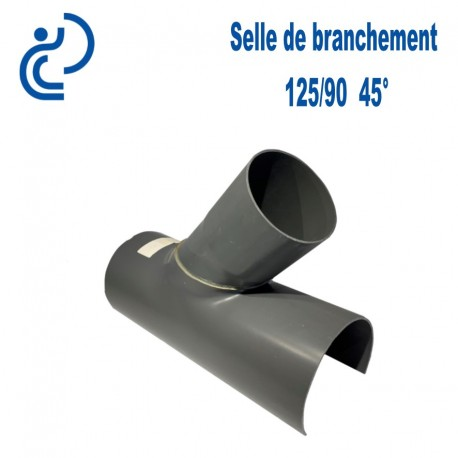 Selle de Branchement 125x90 à 45° PVC à coller