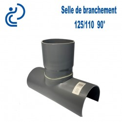 Selle de Branchement 125x110 à 90° PVC à coller