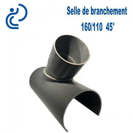 Selle de Branchement 160x110 à 45° PVC à coller