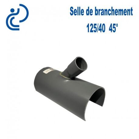 Selle de Branchement 125x40 à 45° PVC à coller