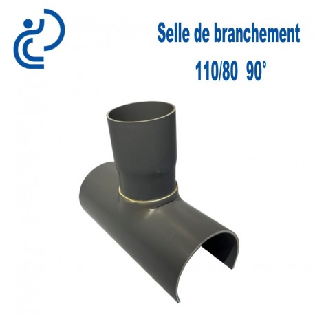 Selle de Branchement 110x80 à 90° PVC à coller