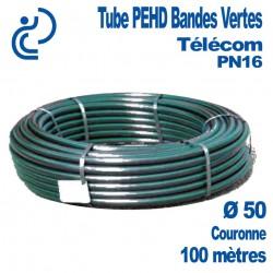 Tube PEHD Bandes Vertes Ø50 couronne de 100ml PN16