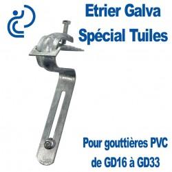 Étrier Galva Réglable Spécial Tuiles pour Gouttières