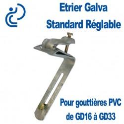 Étrier Galva Standard Réglable pour Gouttières