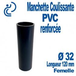 Manchette Coulissante PVC Renforcée Ø32 Femelle Longueur 120 mm