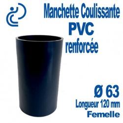 Manchette Coulissante PVC Renforcée Ø63 Femelle Longueur 120 mm