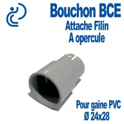 Bouchon BCE Attache Filin à Opercule Ø 24x28