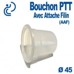 Bouchon PTT Avec Attache Filin (AAF) pour gaine PVC Ø45