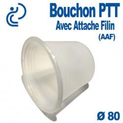 Bouchon PTT Avec Attache Filin (AAF) pour gaine PVC Ø80