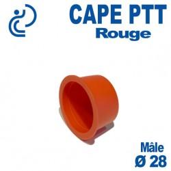 Bouchon CAPE PTT Rouge Ø 25x28 Mâle