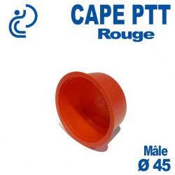 Bouchon CAPE PTT Rouge Ø 42x45 Mâle