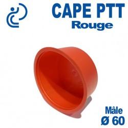 Bouchon CAPE PTT Rouge Ø 56x60 Mâle