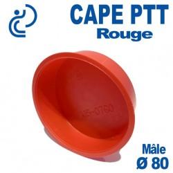 Bouchon CAPE PTT Rouge Ø 75x80 Mâle