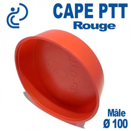 Bouchon CAPE PTT Rouge Ø 96x100 Mâle