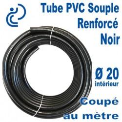 TUYAU PVC SOUPLE RENFORCE D20 OPAL POOLHOSE NOIR coupé au mètre
