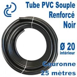 TUYAU PVC SOUPLE RENFORCE D20 OPAL POOLHOSE NOIR couronne 25ml