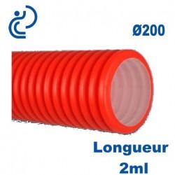 GAINE TPC ROUGE D200 longueur 2ml