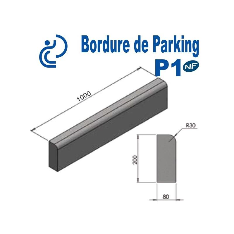 Bordure De Parking Beton P1 Longueur 1 Metre