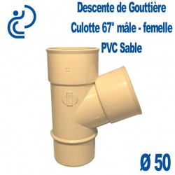 Culotte Pour descente de Gouttière PVC Sable 67° MF D50