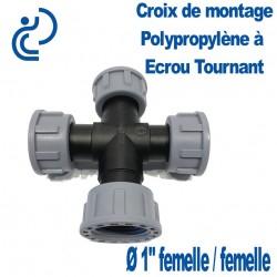 """Croix Polypro à écrou tournant 1"""" FFFF"""