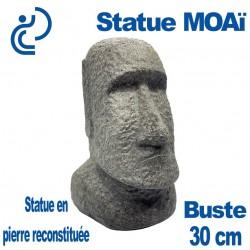 Statue Ornementale Buste MOAï en Pierre Reconstituée 30cm