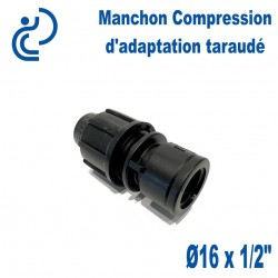 Manchon Compression d'adaptation D16 taraudé 1/2""