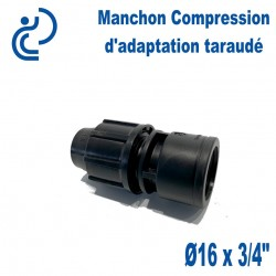 Manchon Compression d'adaptation D16 taraudé 3/4""