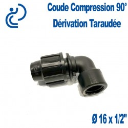coude compression 90° dérivation taraudée