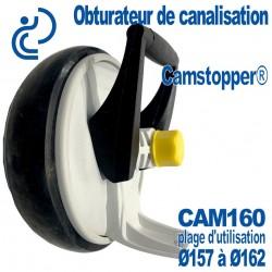 Obturateur de Canalisation Mécanique à Came Ø160 CAMSTOPPER®