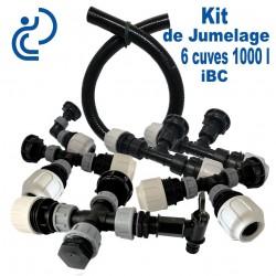 KIT de Jumelage pour 6 cuves 1000 litres IBC modulable prêt à monter