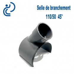 Selle de Branchement 110x50 45° PVC à coller