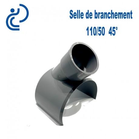 Selle de Branchement 110x50 45° PVC à coller