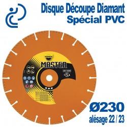 Disque Découpe Diamant Spécial PVC Ø230 al22.23