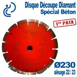 Disque Découpe Diamant 1er Prix Spécial Béton Ø230 al22. 23
