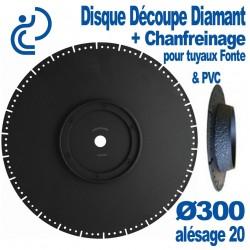 Disque Découpe & Chanfreinage Spécial Fonte & PVC Ø300 al20