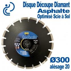 Disque Diamant Ultra Rapide Asphalte Optimisé Scie à Sol Ø300 al20
