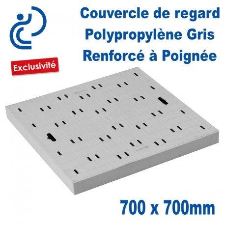 COUVERCLE DE SOL PP 70x70 A Poignées