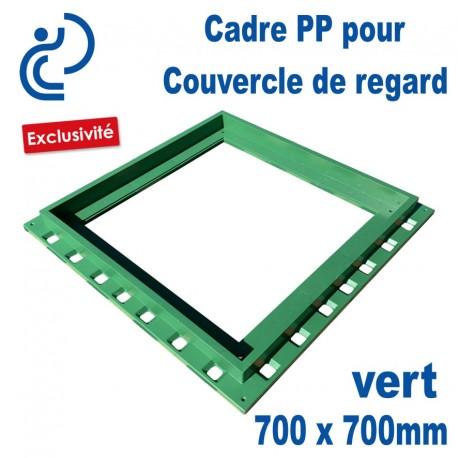 Cadre PP Pour Couvercle de Regard 70x70 Vert