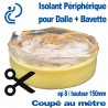 Isolant Périphérique Souple pour Dalle Béton + Bavette adhésive coupé au mètre