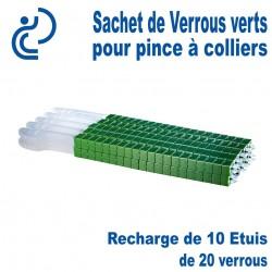 Sachet de 10 ETUIS de Verrous Verts pour Pince à Colliers STYL SNAF