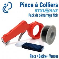 Pack de Démarrage PINCE A COLLIERS STYL SNAF Noir (1 Pince + 1 Bobine de lien + Verrous)