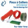 Pack de Démarrage PINCE A COLLIERS STYL SNAF Vert (1 Pince + 1 Bobine de lien + Verrous)