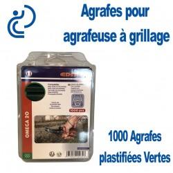 Agrafes Galva Plastifiées vert Omega20 (boîte de 1000)