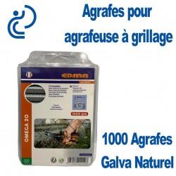 Agrafes Galva Naturel pour Pince Omega20 (boîte de 1000)