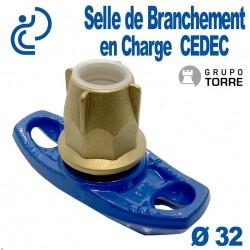 Selle de Branchement en Charge CEDEC Pour Dérivation Fonte sur PEHD Ø32