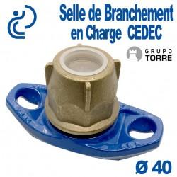 Selle de Branchement en Charge CEDEC sur Fonte Pour Dérivation sur PEHD Ø40