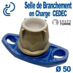Selle de Branchement en Charge CEDEC sur Fonte Pour Dérivation sur PEHD Ø50