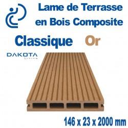 lame de terrasse bois composite classique Or longueur 2mètres